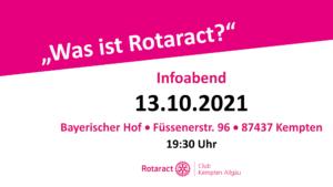 "Infoabend - ""Was ist Rotaract?"" @ Bayerischer Hof Kempten"